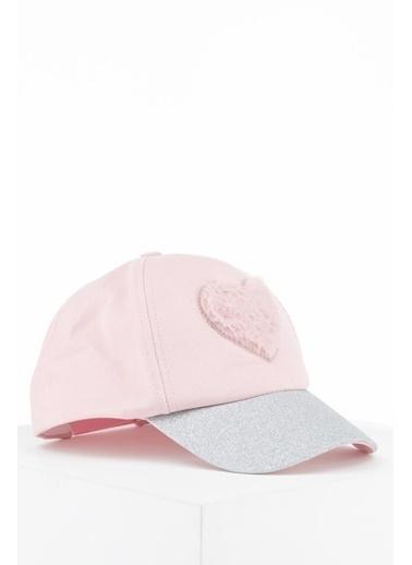 DeFacto Kız Çocuk Kalp Desenli Baseball Şapka Pembe